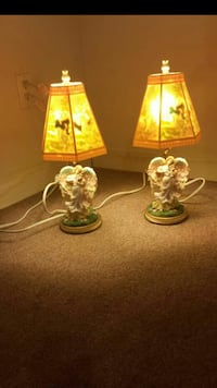 two clear glass table lamps St. Louis, 63116
