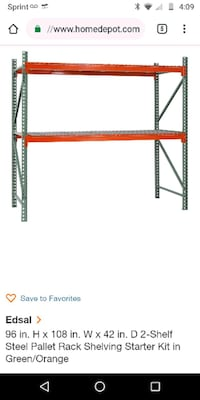 Large commercial shelving can add more shelves 100 Puyallup, 98373