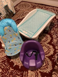 Baby tub and chair and sit chair