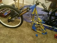 blue and yellow BMX bike Red Deer, T4N