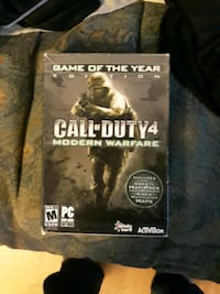 Call of Duty 4 Modern Warfare the game and case