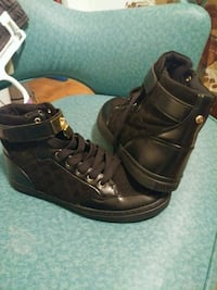 pair of black leather high-top sneakers Alexandria, 22312