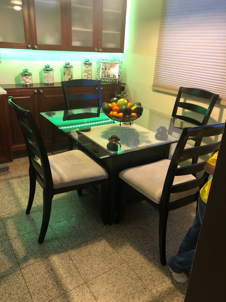 used kitchen table with four chairs black white for sale in glendale rh gb letgo com