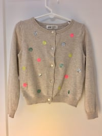 H&M sweater & pink zipper, size 2-4T Reston, 20191