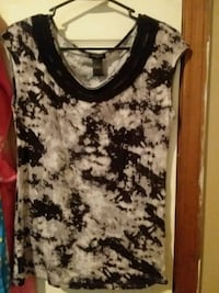 women's white and black floral tank top Houma