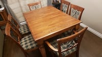Rectangular brown wooden table with four chairs dining set Laval, H7N 6E6