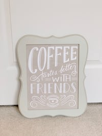 Coffee Print w/ Picture Frame