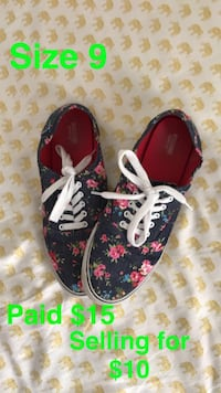 pair of black-and-pink floral sneakers Tuscaloosa, 35401