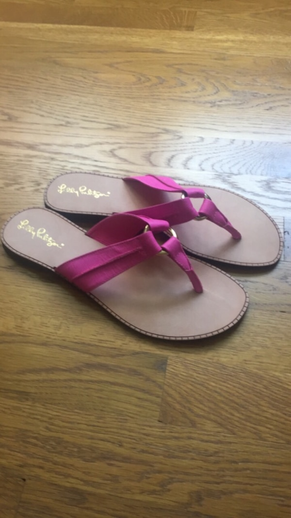 a4f1d3982 Used Lilly Pulitzer flip flops dressy sandals. Sz 9 for sale in West Chester  - letgo