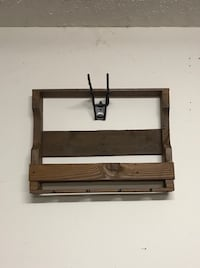 Wine rack made with reclaimed wood. Already stained. 27 in. wide 21 in. tall Nashville