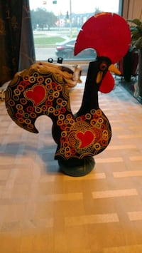 Hand painted decorative metal rooster Edmonton, T6H 2X8