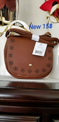 brown and white leather handbag Brampton, L6R