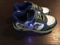 White-blue-and-grey paw patrol sneakers