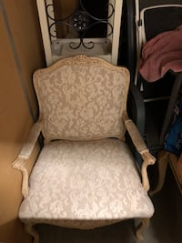 white and gray floral padded armchair Brentwood, 94513