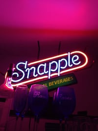 Red white snapple led signage