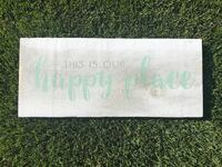 This is our Happy Place Barnwood Sign  Airdrie, T4A 0H2