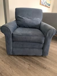 Blue arm chair