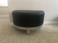 Black and Silver Leatherette Ottoman  Henderson, 89074