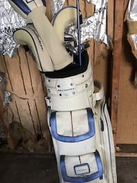 white and gray golf bag with golf clubs Beach Park, 60087