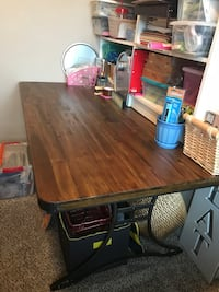 black and brown wooden table Grand Prairie, 75054