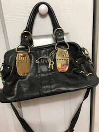 black leather 2-way handbag Clinton, 20735