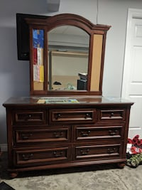 Brown wooden dresser with mirror Vancouver, V6M 3S6