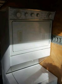 white front-load clothes washer Vancouver, V6E 4R4