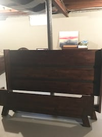 wooden bed frame with night stand East Aurora, 14052