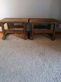 Two solid wood end tables Las Vegas, 89109