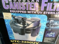 Fish tank canister filter with UV sterilizer Fairfax Station