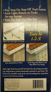 Mounting Tracks for Icicle Lights
