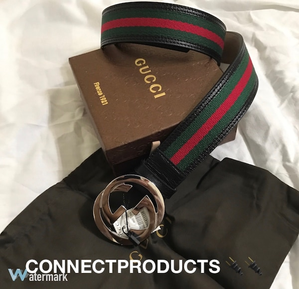 e4d2f8c344a4eb Used black, greed and red gucci belt with box for sale in New York - letgo