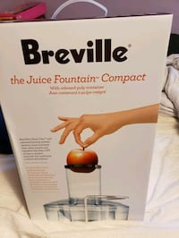 Breville Juicer - Juice Fountain Compact - New Vaughan, L4J 4Y8