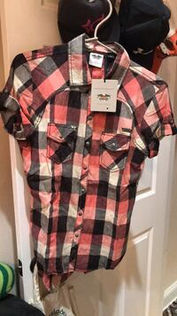genuine harley davidson plaid button up size small new with tags original price $80 Knoxville, 37918