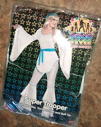 NEW Large women's DISCO FEVER HALLOWEEN COSTUME 2012 size L 14 16 Manchester, 03103