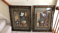 Two brown wooden framed painting of flowers Stafford, 22554