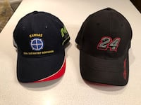 Two Nascar Jeff Gordon #24 hats - adjustable fit and fitted size Med Plainfield, 60544