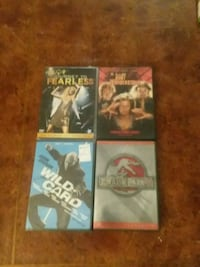 four assorted DVD movie cases Cape Coral, 33914
