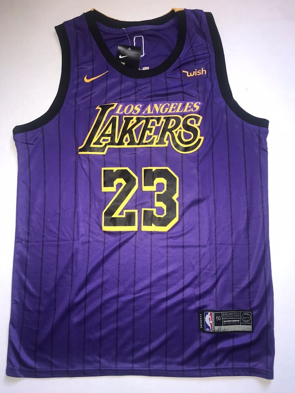 quality design 7666a c5312 Lebron James Lakers jersey
