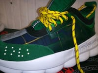 pair of black-and-green Adidas sneakers Lanham, 20706