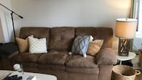 Brown suede 3-seat sofa New York, 10005