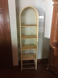 Wicker shelf unit. Like new! 686 mi