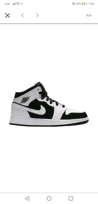 Jordan 1 white and black mid brand new in the box size 7 Calgary, T2S 0E3