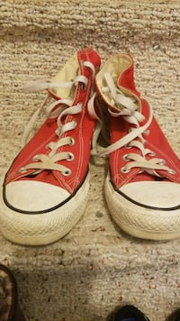 pair of red Converse All Star high-top sneakers Edmonton, T5Y 2H2