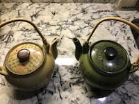 Two green and beige ceramic kettles Woodbridge, 22191