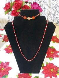 Glass bead necklaces and bracelets