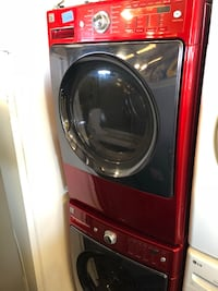red front-load clothes washer Hayward, 94544