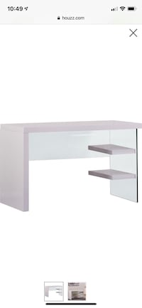 white wooden single pedestal desk Washington, 20002