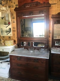 Antique Carved Solid Wood Dresser with  Mirror Wake Forest, 27587
