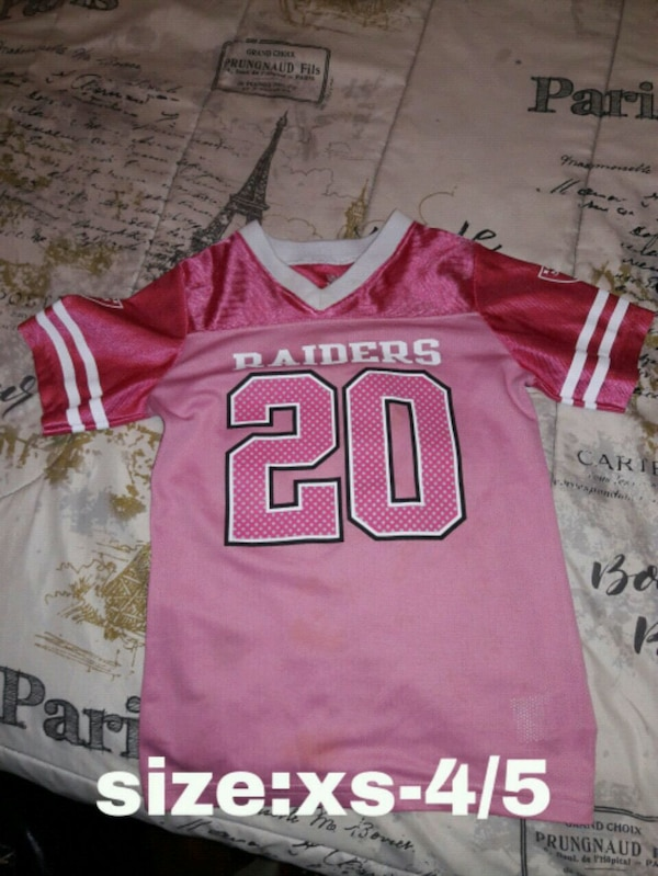 Used pink and white NFL jersey for sale in Oakland - letgo f72d25cbb